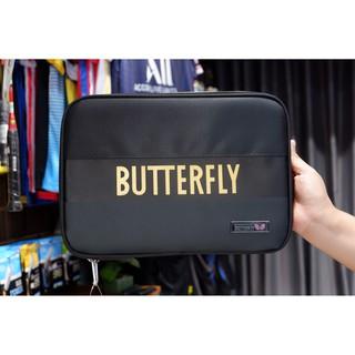 Bao Vợt Bóng Bàn Vuông Butterfly 2 Ngăn – Kèm 1 Khung Nhựa Để 2 Cây Vợt