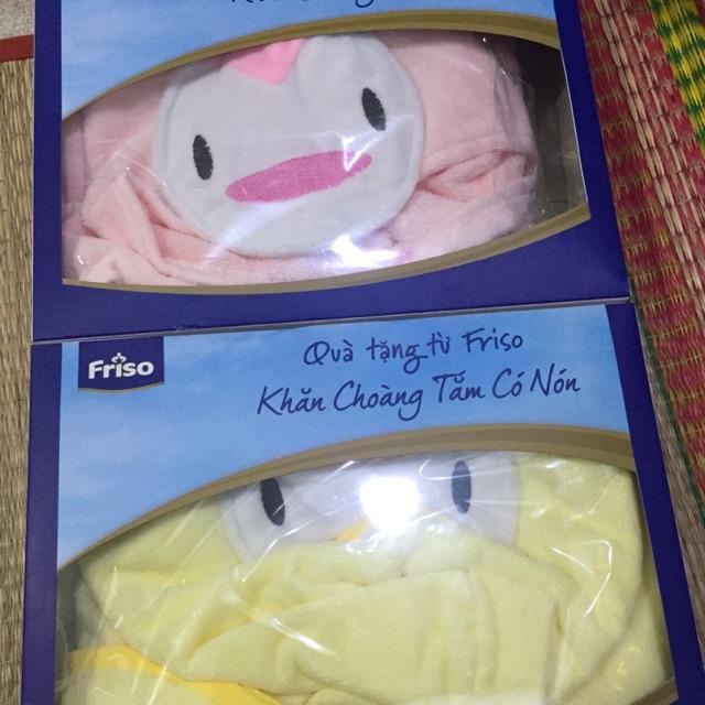 Khăn choàng tắm có nón cho bé - quà từ friso