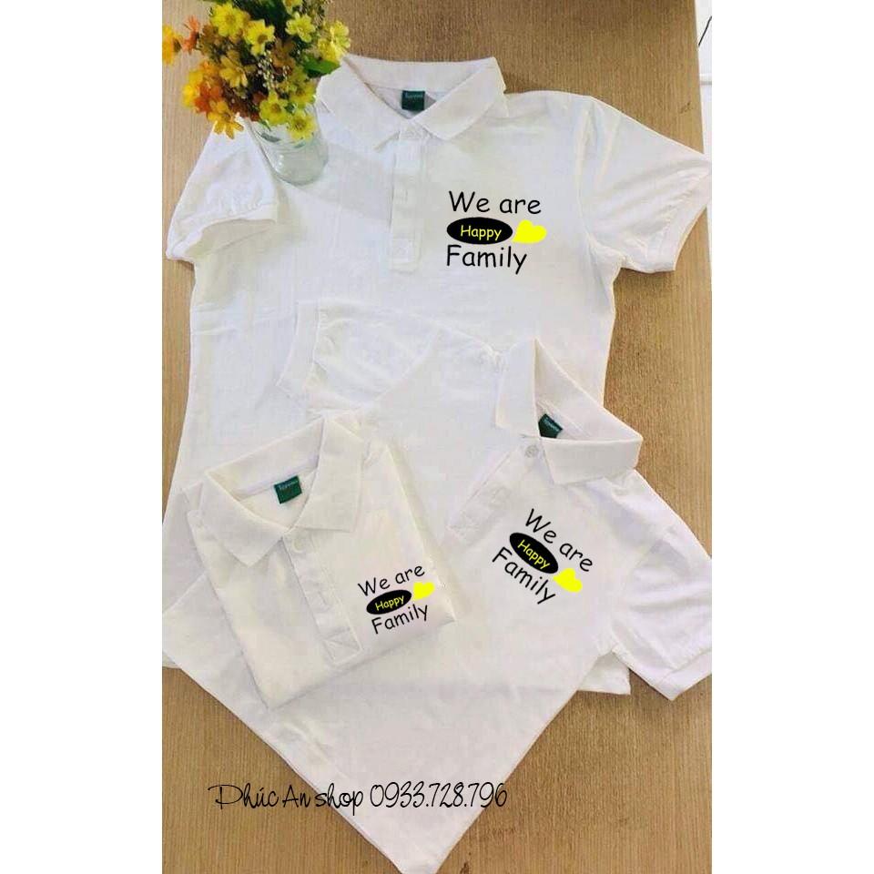 Áo thun có cổ, áo nhóm,áo gia đình có cổ - WE ARE HAPPY FAMILY