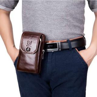 [Freeship] Túi đeo hông, túi đeo thắt lưng DA BÒ THẬT có dây để đeo chéo – Bullcaptain VN