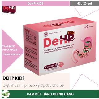 DeHP Kids [Hộp 20 gói] - Giảm vi khuẩn Hp, bảo vệ dạ dày cho bé yêu [DE HP] thumbnail