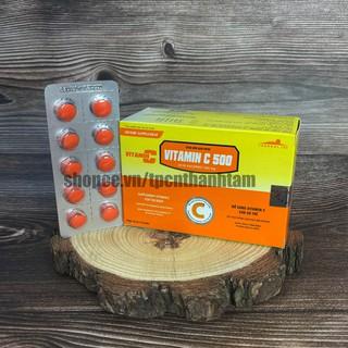 Viên uống VITAMIN C500 bổ sung vitamin c tăng cường sức đề kháng Hộp 100 viên thumbnail