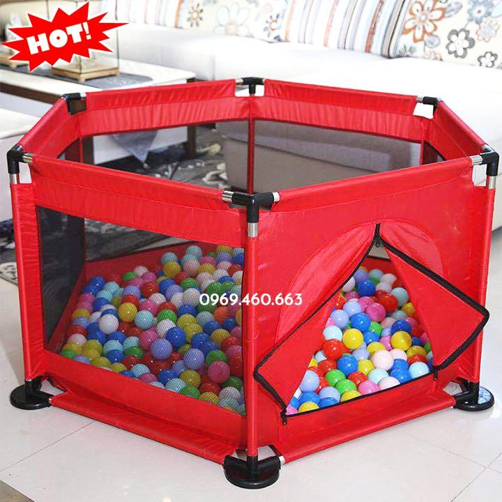 Quây bóng kiêm Quây cũi cho bé (loai 1) + 10 bóng nhựa (combo)
