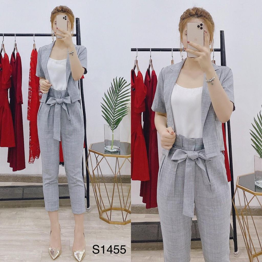 HÀNG CAO CẤP - Bộ đồ công sở/bộ đồ dạo phố S1455