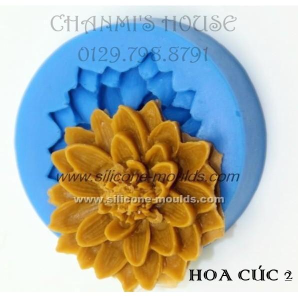 Khuôn 4D silicon- hoa cúc 2