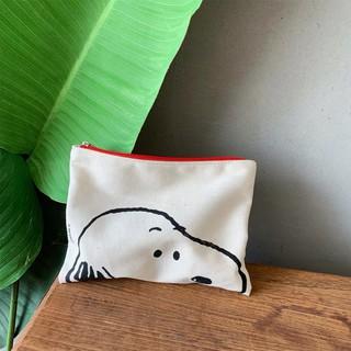 Túi Vải Canvas Đựng Mỹ Phẩm Họa Tiết Hoạt Hình Snoopy Kiểu Nhật Hàn Dễ Thương thumbnail