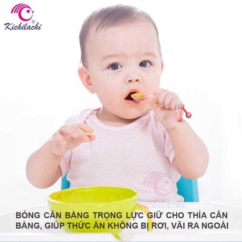 [Mã 267FMCGSALE giảm 8% đơn 500K] Thìa Ăn Dặm Cảm Biến Nhiệt Kichilachi Cho Bé !