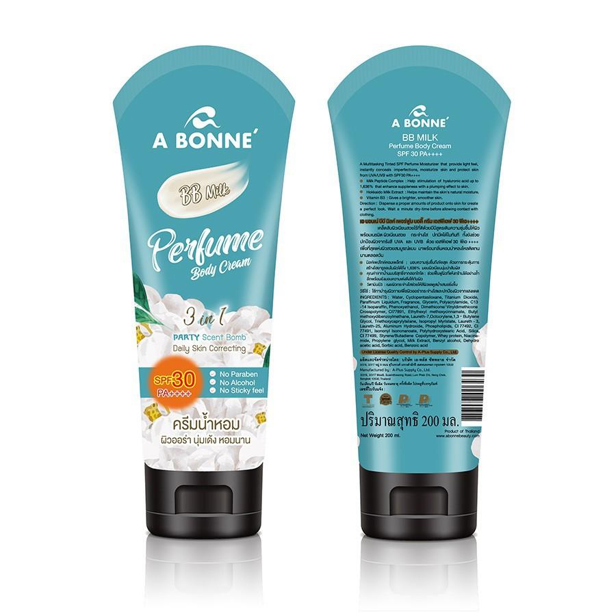 Kem Dưỡng Toàn Thân A Bonne' SPF30 - Perfume Body Cream (AA Arbutin, BB Milk) 200g - Nhập khẩu Thái Lan