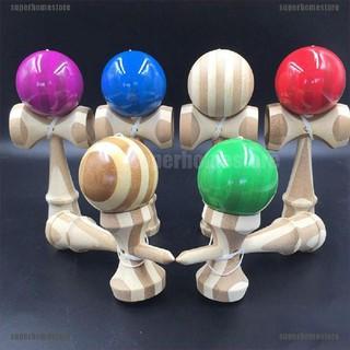 [superhomestore]1 Pcs Jumbo Kendama Japanese Traditional Game Educational Skillful Wooden Toy
