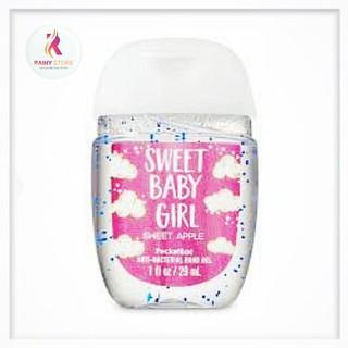 Gel rửa tay khô Bath & Body Works Sweet Baby Girl mùi Sweet Apple 29ml