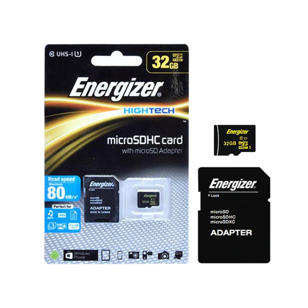 Thẻ nhớ Energizer HT Micro SDHC Card 32GB - FMDAAH032A (Card + Adapter)