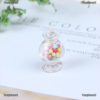 Youyimaoli 1:12 Dollhouse Miniature Mini Candy Bottles Dollhouse Kitchen Accessories