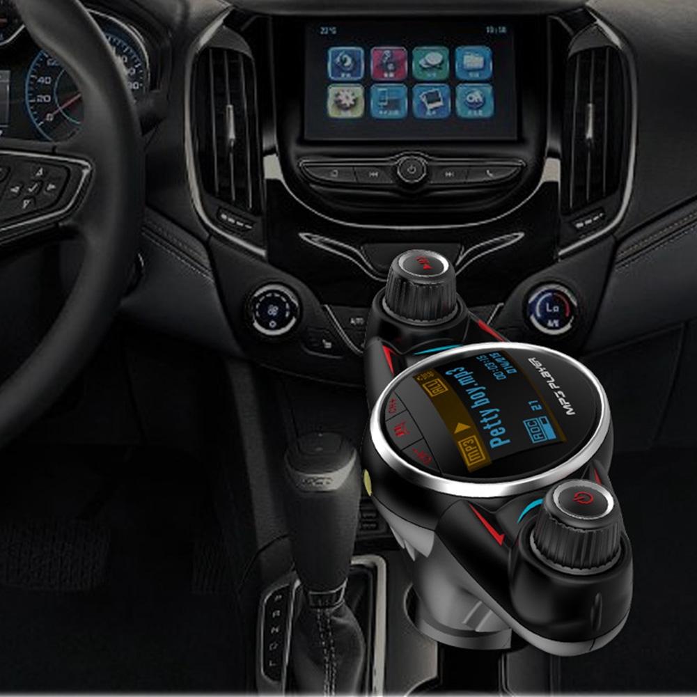 BT08 Bluetooth Black MP3 Player Car Kit ABS Big Eyes Double Head Wireless Handsfree Cool Light LCD Display Auto Fashion