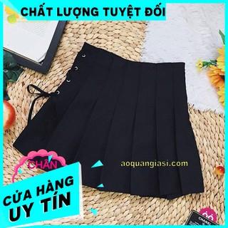 [CHÁY HÀNG] Chân váy tennis thắt dây Đen MT597 SHOP QUẦN CHÂN VÁY NỮ