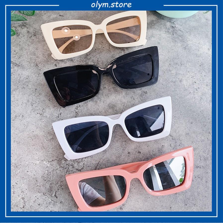 [Mã FAFS9 hoàn 20% đơn 99K] Kính mắt nữ gọng vuông , kính mắt thời trang nữ Hàn Quốc chống UV