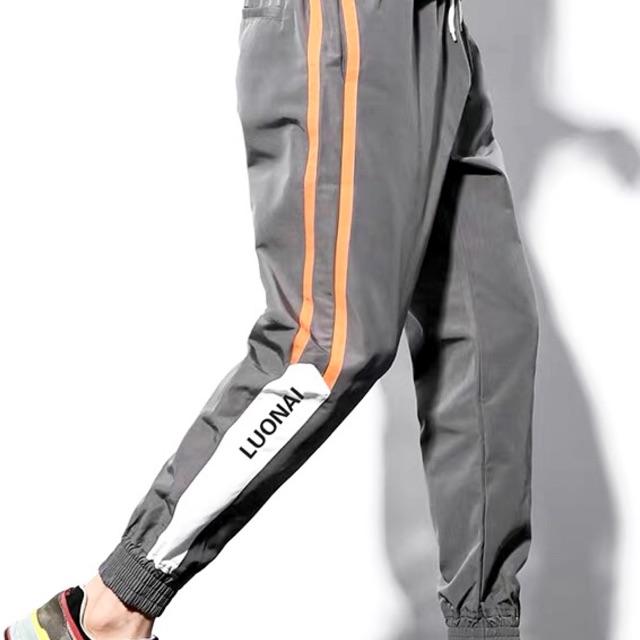 [Hàng Order] Quần dài thể thao Nam phong cách vải Polyester