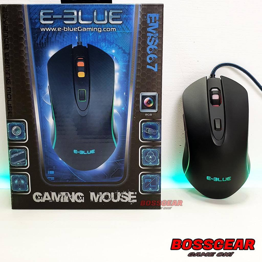 [Mã SKAMPUSHA7 giảm 8% đơn 250k]Chuột Gaming E-Blue EMS667 RGB ( LED RGB, 4000 DPI, Pixart 3350 )