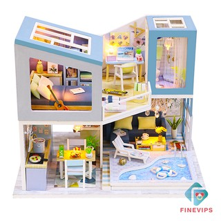 [COD]IN STOCK!! DIY Miniature Doll House with Furniture Accessory First Meet No Dust Cover
