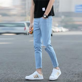 Quần jeans skinny xanh sáng Hàn Quốc A161 có ảnh thật