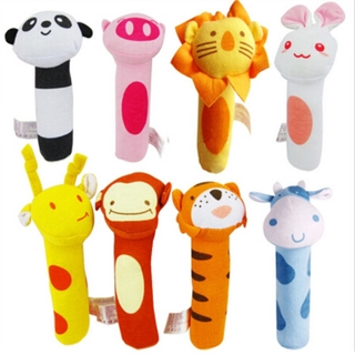 New Baby Toys Hand Grip Rod Toys Educational Toys Rattle Animal Stick Exercise Coordination Ability Hand Bell Toy