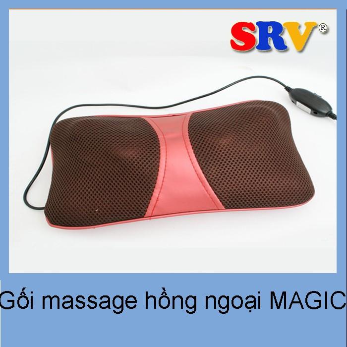 Gối massage hồng ngoại MAGIC - 3374346 , 484302525 , 322_484302525 , 490000 , Goi-massage-hong-ngoai-MAGIC-322_484302525 , shopee.vn , Gối massage hồng ngoại MAGIC