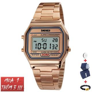 Đồng hồ nam nữ Skmei 1123 dây thép đồng hồ điện tử