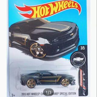 Xe ô tô mô hình tỉ lệ 1:64 Hot Wheels 44444Hot Wheels Chevy Camaro Special Edition 180/365 ( Màu Đen )