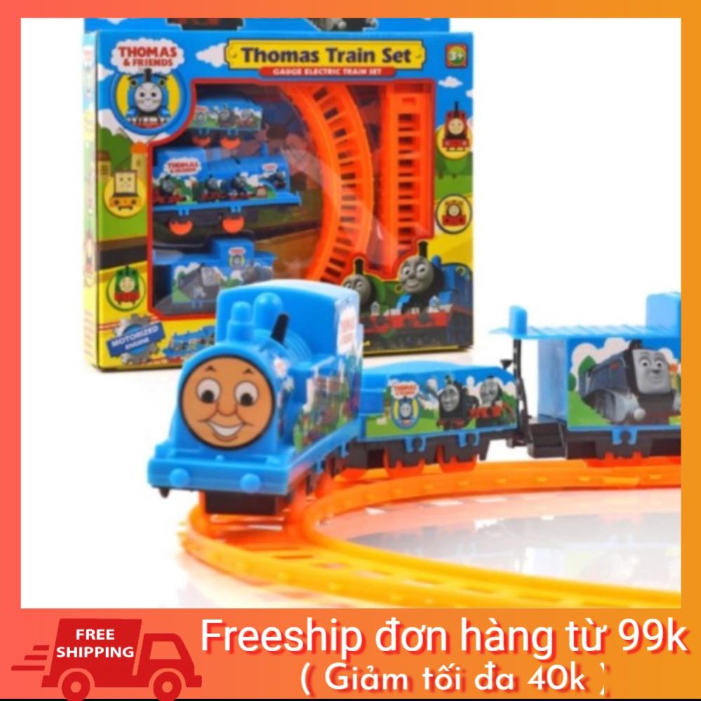 [Mã TOYNOV giảm 10% tối đa 15K đơn từ 50K] Hộp đồ chơi đường ray xe lửa tàu hỏa Thomas dùng pin