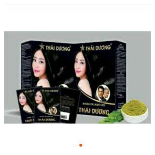 Dầu gội nhuộm tóc dược liệu Thái Dương 1 gói thumbnail
