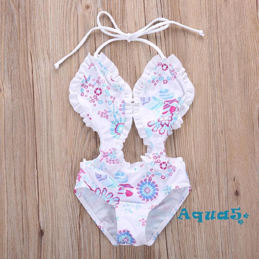 Mặc gì đẹp: Tắm biển vui với Đồ tắm một mảnh in họa tiết hoa xinh xắn dành cho bé gái