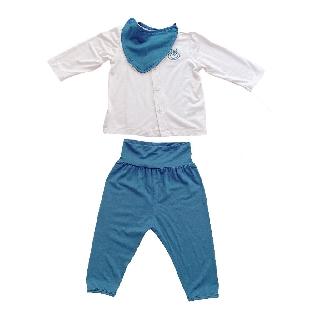 [Mã LILGRO20 giảm 15% đơn 99K] Bộ sơ sinh cài thẳng vải smoothy cho trẻ 0-6 tháng littlelove