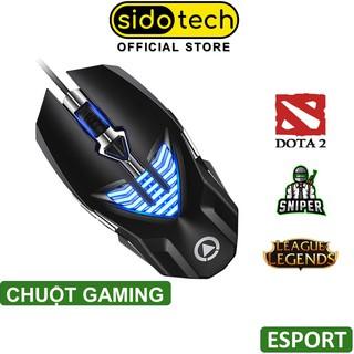 Chuột gaming máy tính chơi game SIDOTECH 800 1200 1600 3200DPI có dây cho game thủ Esport- Hàng Chính Hãng thumbnail
