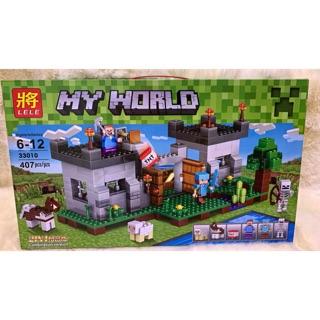 (Minecraft) LEGO minecraft TƯỜNG THÀNH và LÍNH GÁC (407 mảnh)