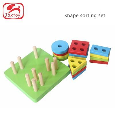 Tháp thả hình khối Montessori