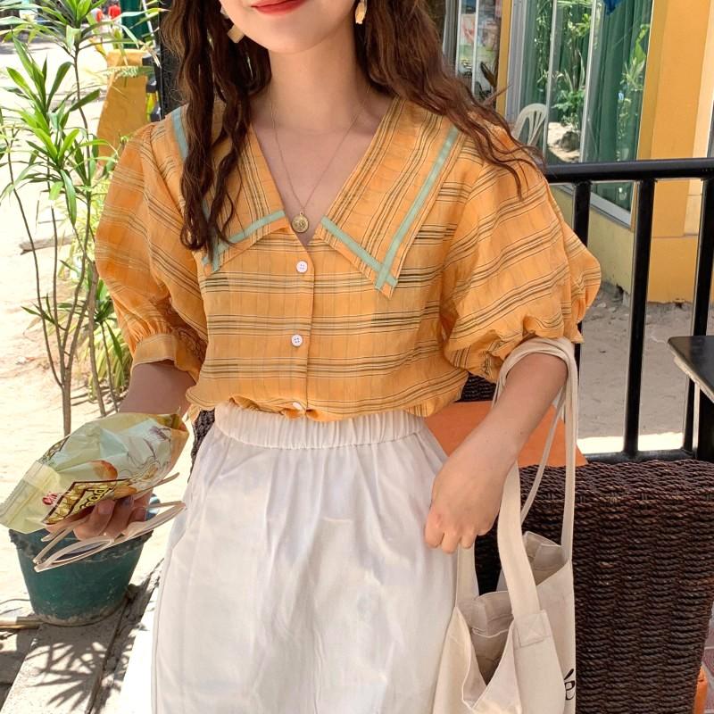 Đầm nữ ngắn tay cổ bẻ phối màu thời trang Hàn - 14018484 , 2700973968 , 322_2700973968 , 405000 , Dam-nu-ngan-tay-co-be-phoi-mau-thoi-trang-Han-322_2700973968 , shopee.vn , Đầm nữ ngắn tay cổ bẻ phối màu thời trang Hàn