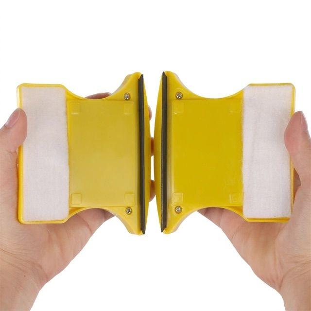 Dụng cụ lau kính nam châm 2 mặt