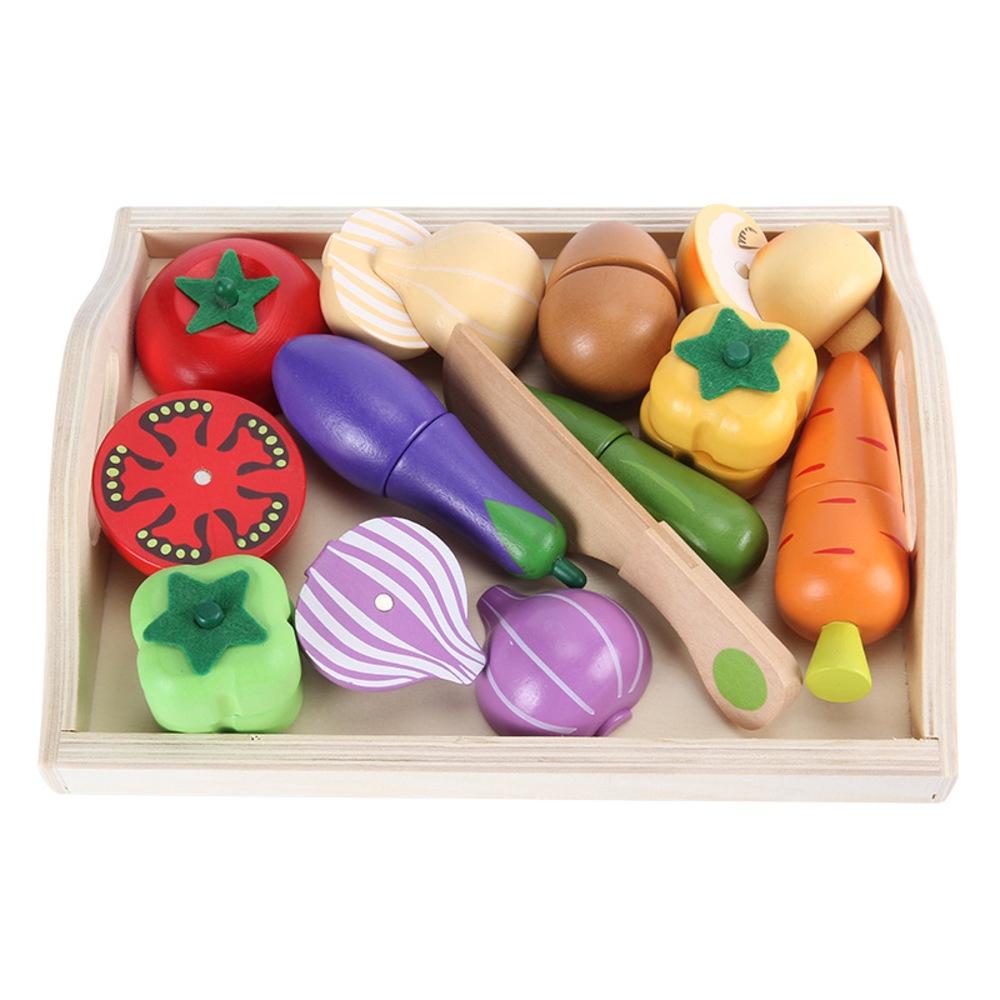 bộ đồ chơi cắt bánh bằng gỗ cho bé