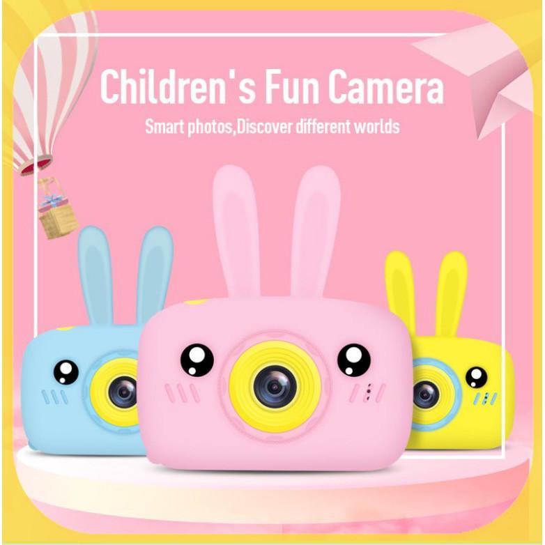 [Mã ELFLASH11 hoàn xu 10K đơn 20K] Máy ảnh kỹ thuật số mini X9 thiết kế vỏ phối họa tiết hoạt hình dễ thương cho bé
