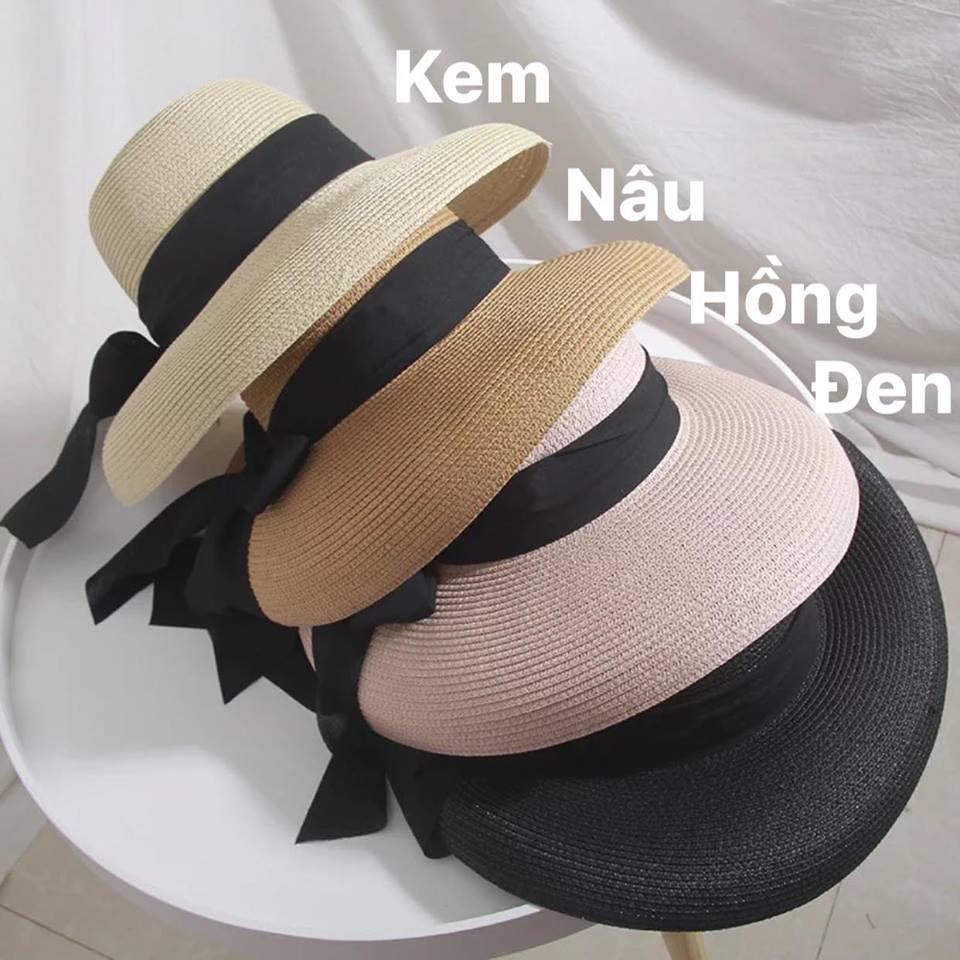 Mũ cói thời trang che nắng