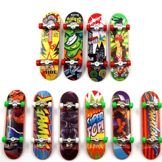 Mary☆ 2PCS Finger Board Tech Truck Mini Skateboards Alloy Stent Party Favors Gift
