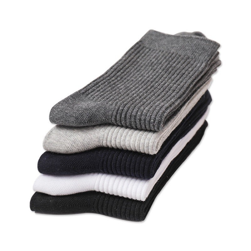 Vớ Tất Trơn Cổ Cao Basic [ FREESHIP ]vải cotton kháng khuẩn, hàng loại 1 bao đổi trả dành cho cả nam và nữ