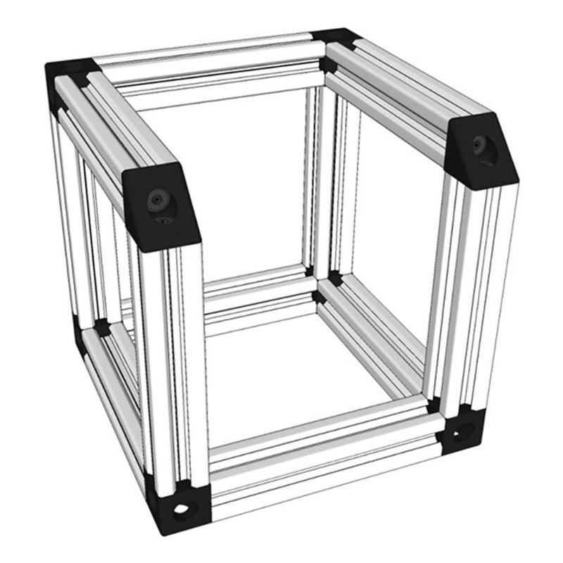 Hộp khóa nhôm hình tam giác nối các cạnh chuyên dụng cho máy in 3D