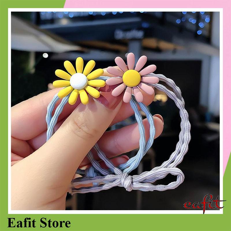 Dây buộc tóc hoa cúc nhiều màu EAFIT100