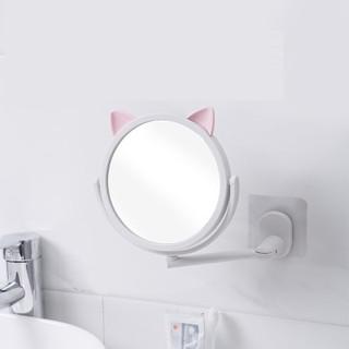 Gương gắn tường nhà tắm xoay 360 độ mẫu tai mèo siêu dễ thương ngộ nghĩnh