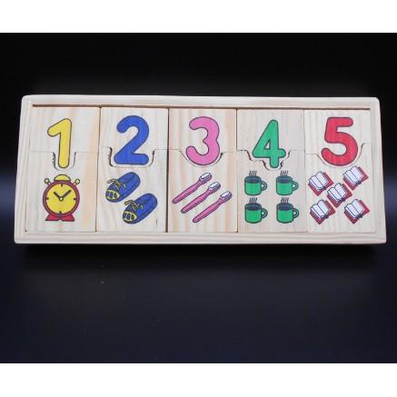 SỈ LẺ GIÁ TỐT – Matching puzzle số lượng thẻ ghép khớp số