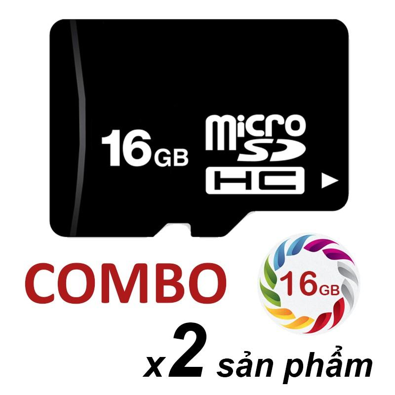 Combo 2 thẻ nhớ 16Gb micro SDHC C10