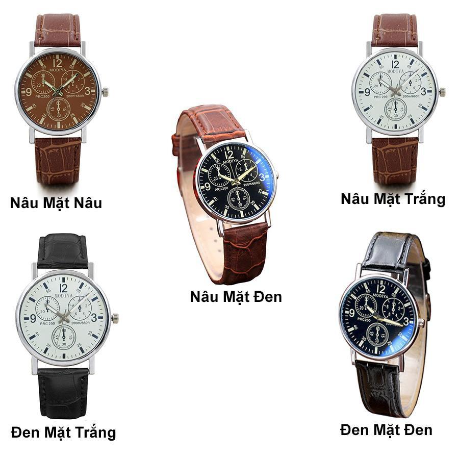 Đồng hồ nam Modiya thời trang cao cấp dây da DH97