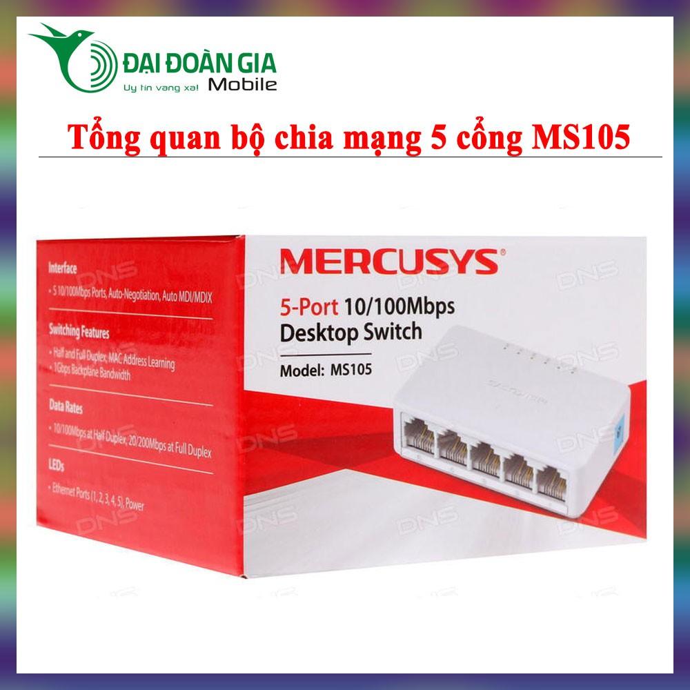 Switch Mercusys MS105 – Bộ chia mạng 5 cổng 10/100Mbps