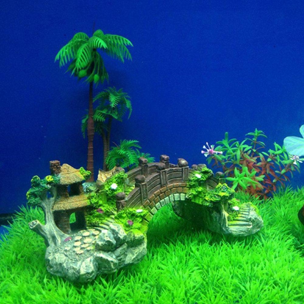 Cầu mini trang trí bể cá nhà cửa dễ thương