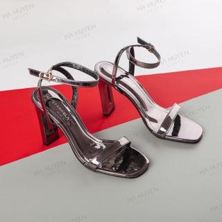 Giày cao gót 9p I Sandal 9p gót dẹt quai mảnh đơn giản dễ đi tôn dáng cực kì